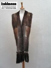 NATUR BISAM PELZ BOA SCHAL KRAWATTE écharpe sciarpa fur scarf 220 x 18 cm TREND