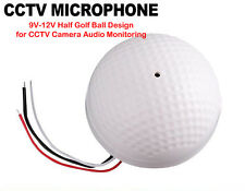 Round Mic Microphone Sound Monitor CCTV Security Camera Audio Pickup Device