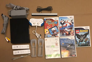 Black Wii Console With Accessories And 5 Wipeout Lego Batman Games TESTED