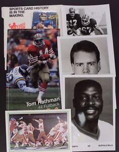 Sports-Memorabilia-NBA-NFL-BRUCE-SMITH-PHIL-SIMMS-Misc-Lot-13-Items-17E