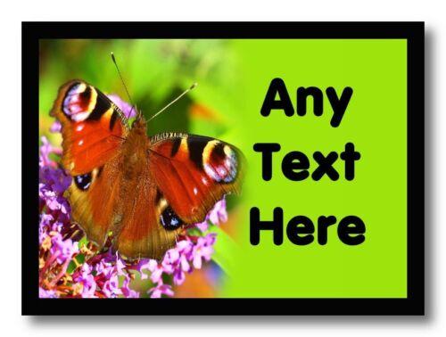 Vert papillon personnalisé table napperon