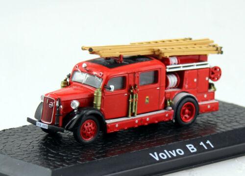 Volvo B11 Vitrine Feuerwehr Atlas 1:72 Modellauto