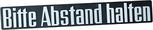 Auto-3D-Aufkleber-Relief-Schild-Emblem-BITTE-ABSTAND-HALTEN-21-cm-HR-Art-14403