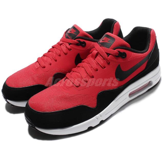 eadc1e695bf3 Nike Air Max 1 Ultra 2.0 Essential Red Black Men Running Shoe Sneaker  875679-600