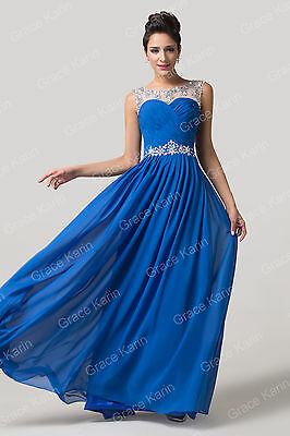 Long Ball Gown Prom Evening Party Cocktail Wedding Bridesmaid Formal Maxi Dress