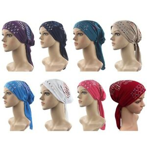 Muslim-Womens-Hijab-Cancer-Hat-Chemo-Inner-Caps-Turban-Hair-Loss-Head-Scarf-Smat