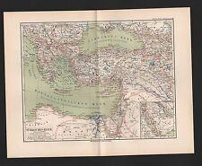 Landkarte map 1892: TÜRKISCHES REICH. Türkei