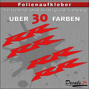30 Farben 600 RR Sponsoren-Folienaufkleber Auto//Motorrad 8cm 2er SET