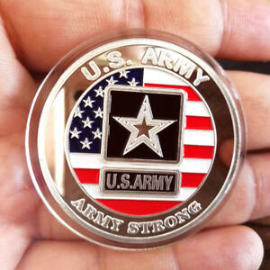 1 oz .999 Fine Silver Round Bar Bullion Coin / U.S Army SB1K1 Military