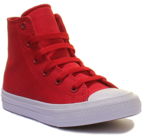 Converse Chuck Taylor All Star Kids High Top Red Lace up Canvas Trainers