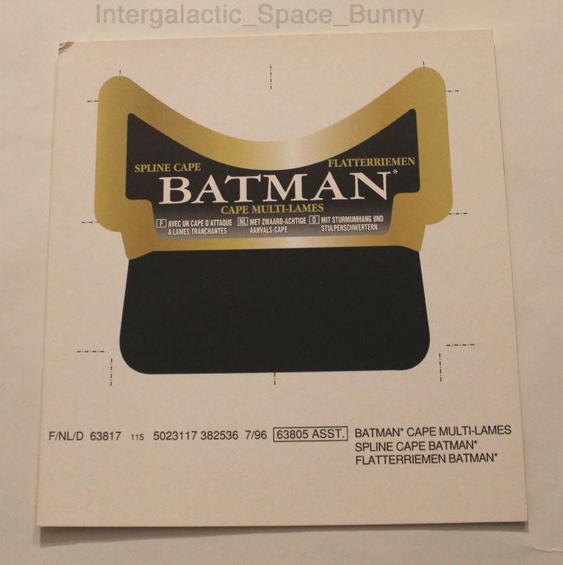 1996 kenner batman legenden spline - cape beweis - prototyp - produktion
