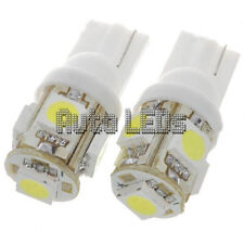 1 White 5 x 5050 LED T10 Wedge 12v Interior LED Bulb