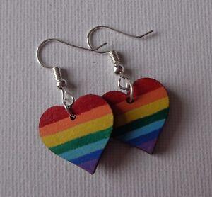 Rainbow-Heart-Earrings-Wooden-Wood-Handmade-Festival-LGBTQA-Pride-Vegan