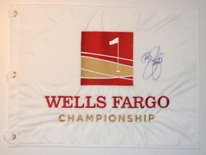RICKIE-FOWLER-1ST-WIN-Signed-WELLS-FARGO-CHAMPIONSHIP-Golf-Flag
