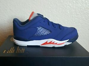 hot sale online ae411 25ba6 Image is loading Nike-Air-Jordan-V-5-Retro-Low-Knicks-