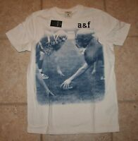 Abercrombie Boys Small Muscle Fit Baldface Mountain Football T-shirt