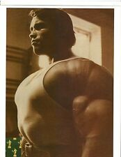 ARNOLD SCHWARZENEGGER 7x Mr Olympia Super Chest Muscle Photo B&W