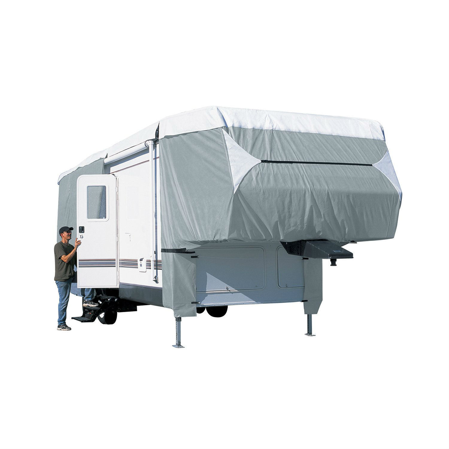 Classic  Accessories 75763 PolyPRO III Deluxe Fifth Wheel Cover 37-feet - 41-feet  no minimum