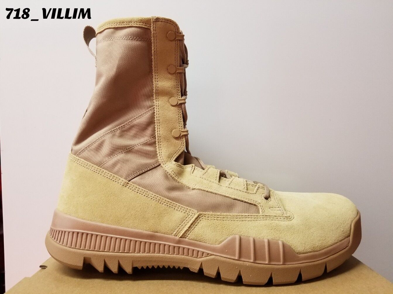 NIKE SFB SPECIAL FIELD 8 LEATHER BOOTS BRITISH KHAKI 688974 200 MILITARY SIZE 15