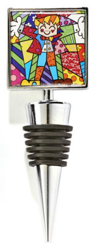 1 PER ORDER ** NEW ** ROMERO BRITTO SQUARE DOUBLE-SIDED BOTTLE STOPPERS