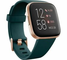 FITBIT Versa 2 with Amazon Alexa - Emerald & Copper Rose - Currys