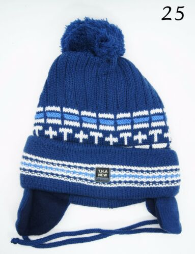 Baby Boy Hat Toddler Infant Winter Tie up Hat Warmer Ear-flap Knitted Cap