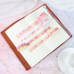 Korean-Ins-Pink-Girl-Flower-Decorative-Adhesive-Tape-For-Diary-DIY-Scrapbooking