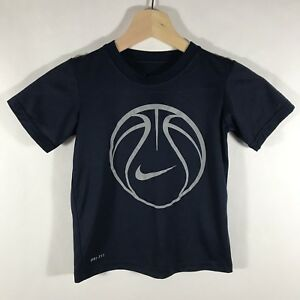 b5c76da465d9 Nike Dri Fit Youth Boys Size 4 Graphic Basketball T-Shirt Blue EUC ...