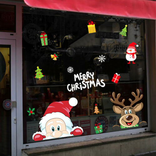 1pc Christmas Wall Stickers Wall Window Glass Sticker Mural Home Room Decoration