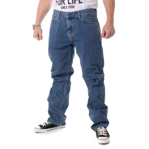 Carhartt Droite Pantalons Bleu 15305 Jeans Coupe Délavé Marlow Hommes IzwIC