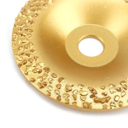 4/'/' Brazed Diamond Grinding Wheel Cup Abrasive Disc F Stone Rubber Tire Grinding
