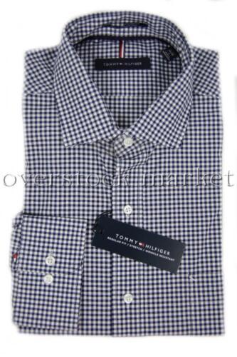 MENS TOMMY HILFIGER REGULAR FIT STRETCH WRINKLE RESIST BUTTON FRONT DRESS SHIRT