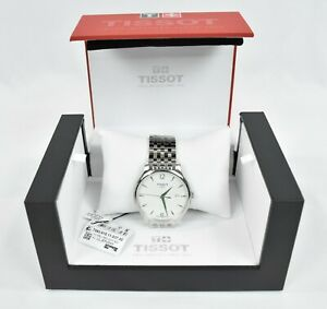Tissot-Tradition-Stainless-Steel-Men-039-s-Watch-w-White-Dial-T063-610-11-037-00