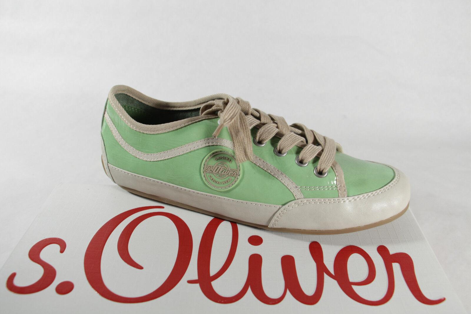 S.Oliver Mujer Zapatos de Cordones Zapatilla Deporte Bajas Bajas Bajas verde Claro Nuevo  Envio gratis en todas las ordenes