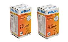 2x Authentic Philips PSX24W 12276 Light Bulb FOG Lamp Headlamp 2504 DRL FRANCE