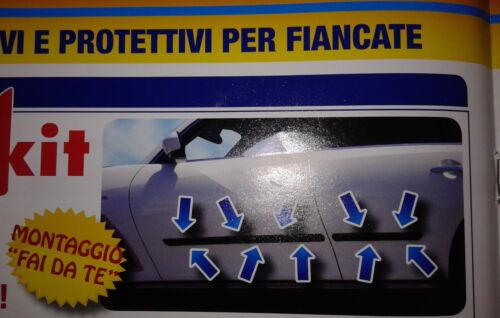 COPPIA MODANATURA UNIVERSALE FIANCATA PORTA POSTERIORE X FIAT PANDA 5 PORTE 2003