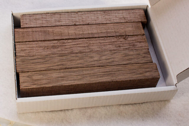 Five Black Walnut wood blanks for pen turning and small wood-turning projects
