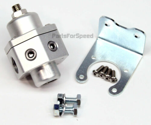 PRP 3007 Billet Fuel Pressure Regulator Carb 2 Ports 3//8 NPT Alcohol MADE IN USA