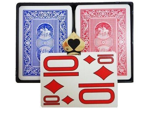 Copag Magnum Poker Size - Red / Blue - Extra Jumbo Index
