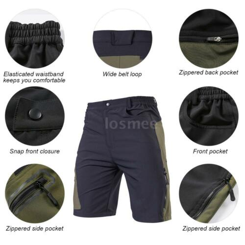Men/'s Cycling Baggy Shorts Mountain Bike Bicycle Shorts Outdoor Running Shorts