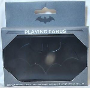 Batman Cartes à Jouer Et De Stockage Tin-afficher Le Titre D'origine