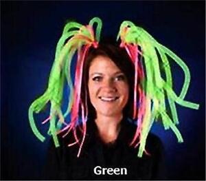 LED Light Up Head Dress Costume Fun Halloween Dress Up Light Show Dreads