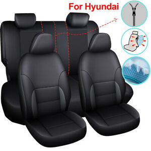 Amazing Details About Black Universal Leather Car Seat Covers Fit For Hyundai Sonata Elantra Genesis Pdpeps Interior Chair Design Pdpepsorg