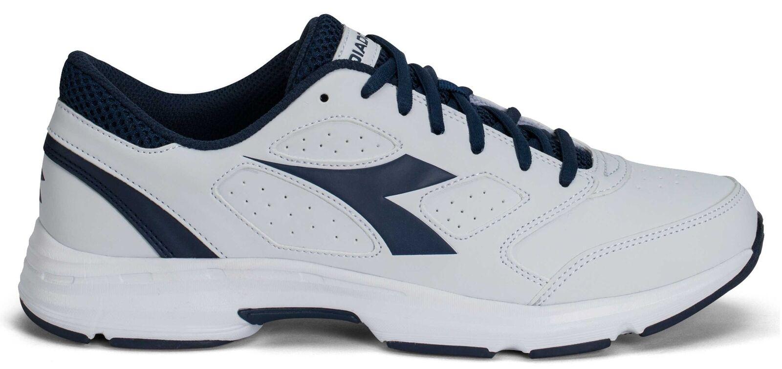 Diadora Scarpa  Running Sneaker Jogging men Shape 7 sl White saltire navy shoes  wholesale cheap