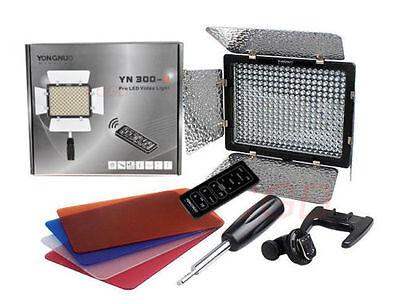 YONGNUO YN-300II LED Video Light + AC Power For Canon Nikon Pentax SLR Camera