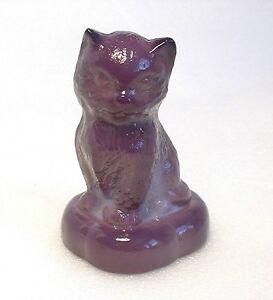 Boyd-Glass-Kitten-on-Pillow-1st-color-Royalty-12-22-78-Cat-Figurine-1st-mark
