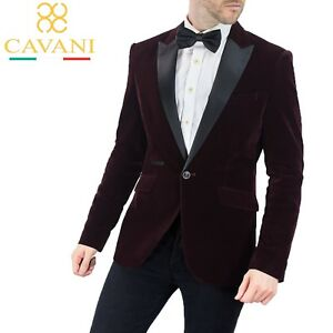 Cavani formale Velvet Kingsman Collar intelligente da Tuxedo Blazer Giacca Wine pranzo Mens fqdxES8f