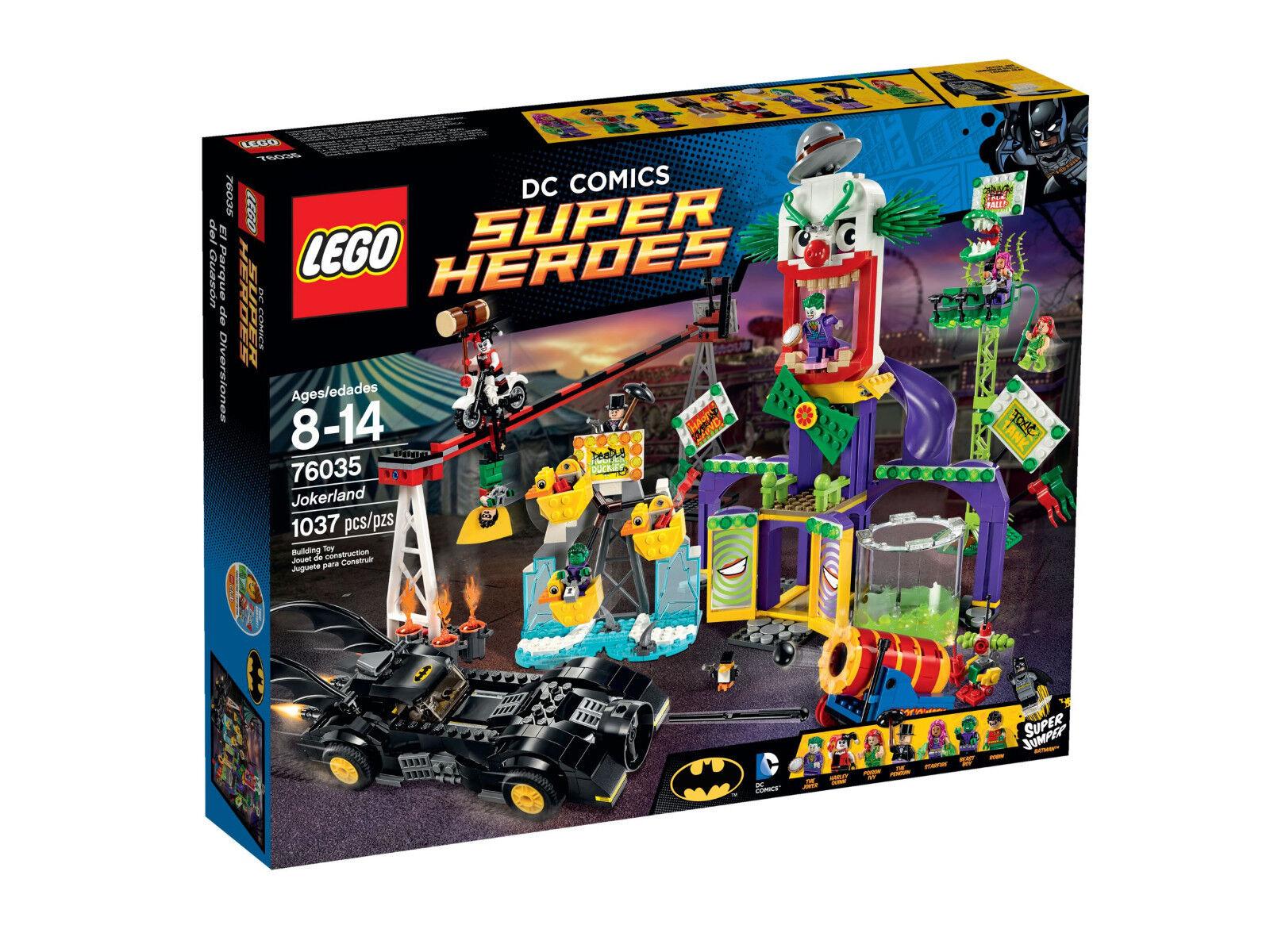 LEGO Super Heroes 76035 - Joker Land   Jokerland - Batman Harley Poison Ivy DC