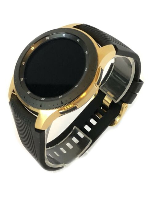3afce28ee3d4a 24K Gold Plated 46MM Samsung Galaxy Watch with Black Band - 2018 Model!