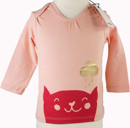 Mexx T-Shirt Langarm Katze lachs Mädchen Baby Größe 62 68 Neu ehe UVP 15,99 €